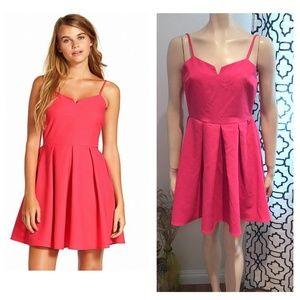 Everly Anthropologie Pink Skater Dress Mini skirt